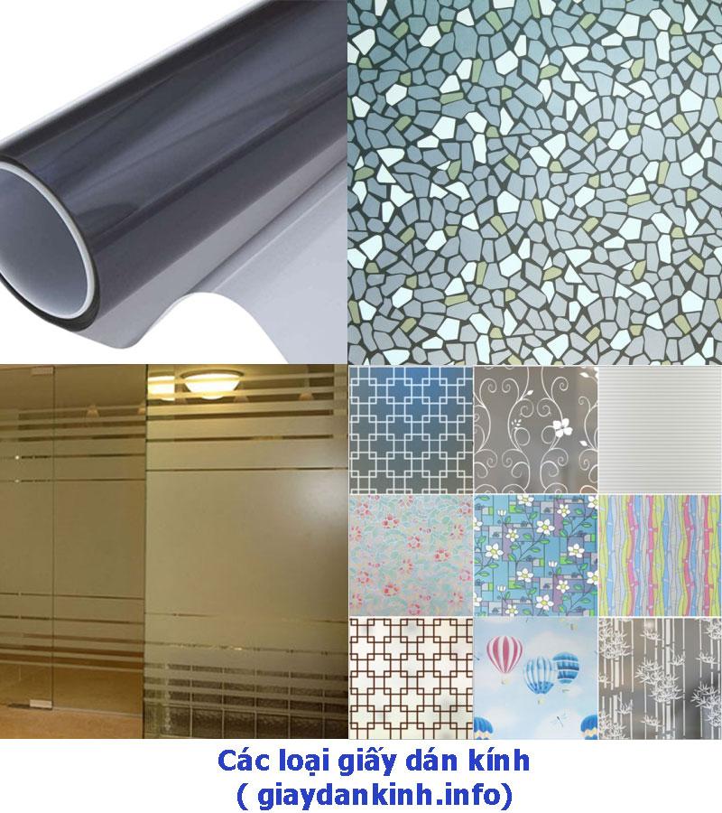 Các loại giấy dán kính