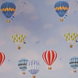 giấy decal dán kính hình khinh khí cầu trang trí cửa sổ