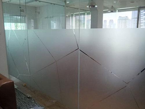 Mẫu đề can dán kính mờ văn phòng