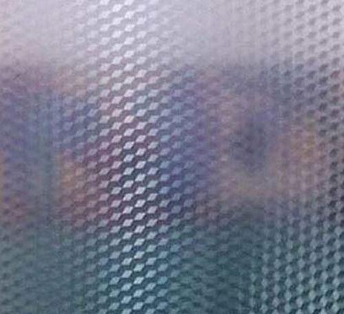Decal dán kính 3D hình quả trám