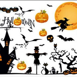 decal trang trí halloween